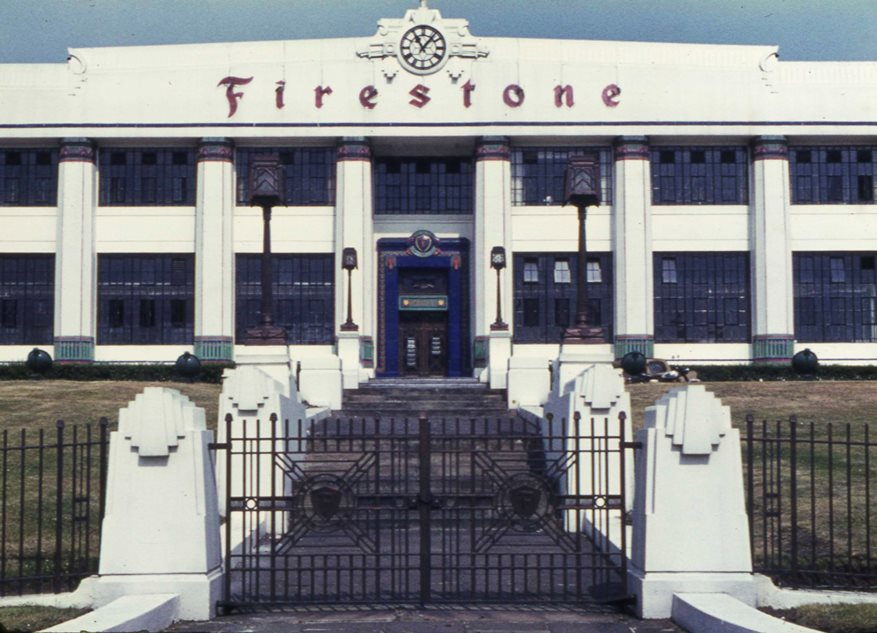 Firestone factory facade