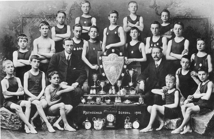 Studio portrait, thought to be boys rowing teams